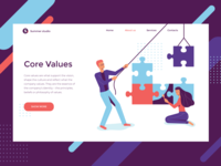 Company Core Values Illustration