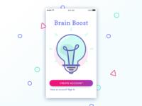 Brain Boost Sign Up Screen