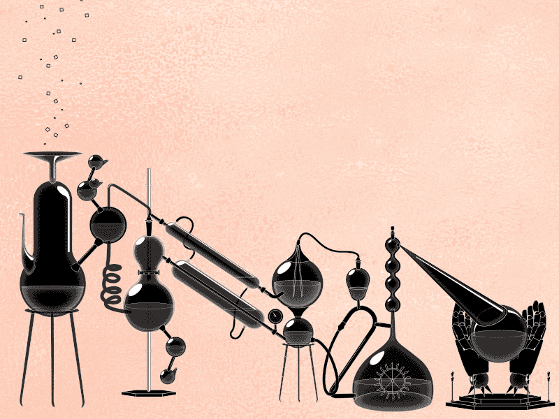Pixel Alchemy screensaver magic experiments beakers pixelpushers wonder science alchemy pixel