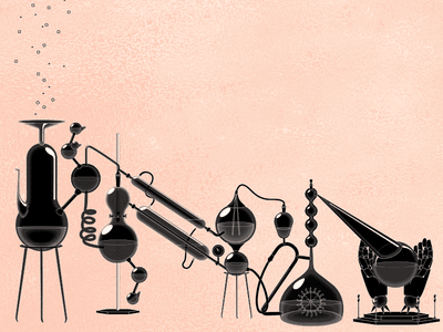 Pixel Alchemy screensaver magic experiments beakers pixelpushers wonder science alchemy pixel