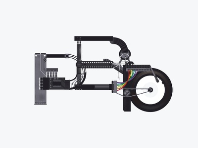 PPP Typography electronics wires computer parts protocol p lettering graphic design typography