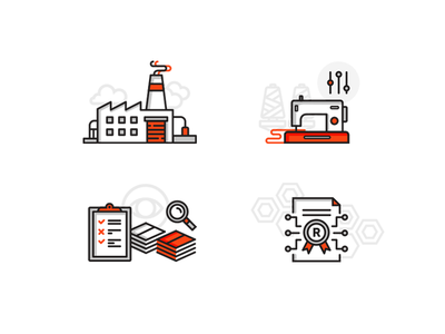 About Business quality control customise manufacture patent illustration web vector ui icon flat design commercial