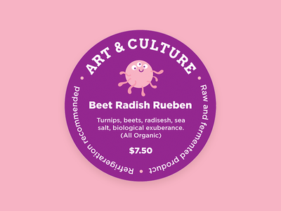 Art & Culture mason jar probiotics illustration organic label sticker ferments pickles character bacteria happy