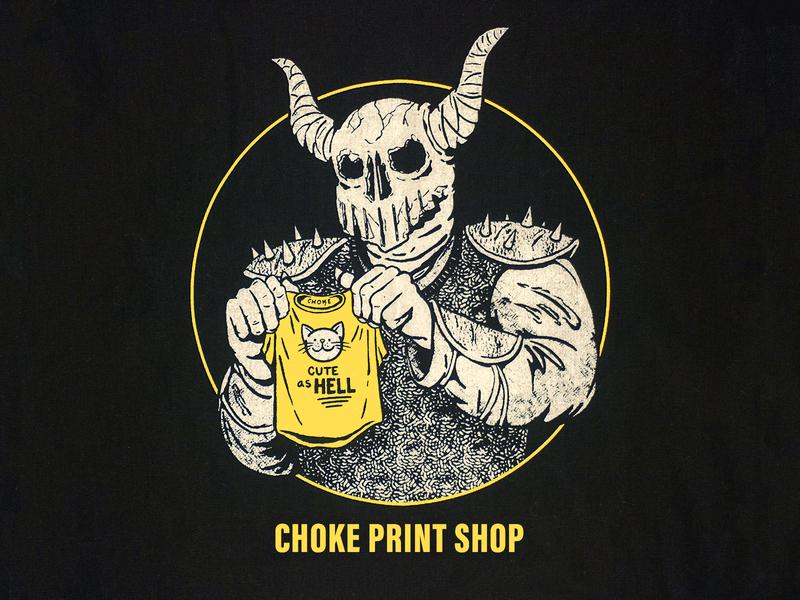 Choke Print Shop tee t shirt screen printing screenprinting design drawing illustration