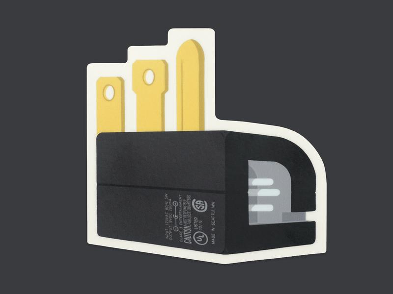 Okay Charger logo sticker sticker vendingmachine logo drawing illustration