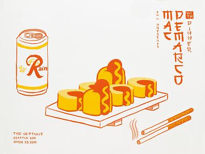 Mac Demarco poster screen printing design screenprint drawing illustration