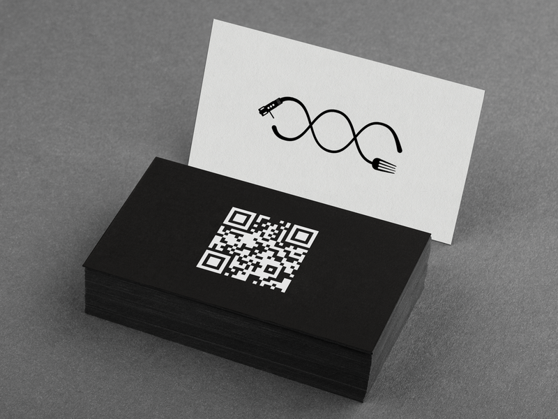 Fame & Sete • Business Card letterpress logotype logo qrcode photoshop mockup graphic design business card corporate identity corporate design