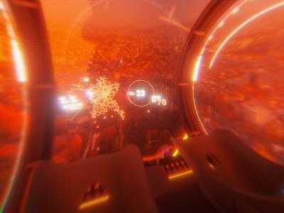 Pod | HUD virtual tour virtual reality vr octane render uidesign scifi after effect illustrator ui graphic design design hud