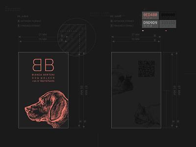 Dog Walker Business Card copper spot color letterpress print branding logo mockup vector adobe illustrator design graphic design businesscard