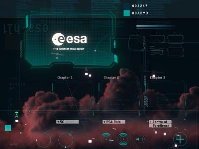 ESA Space for 5G hololens mr app art direction c4d vector ui adobe illustrator design graphic design 3d