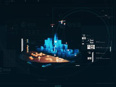 ESA Space for 5G ui illustration mockup augmentedreality microsoft hololens c4d illustrator adobe graphic design art direction 3d