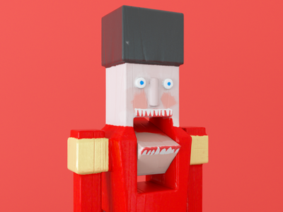 Nutcracker cracks cracked crack nuts wood toy xmas christmas characterdesign character toy design toy after effects substance painter c4d 3d animation 3d nutcracker