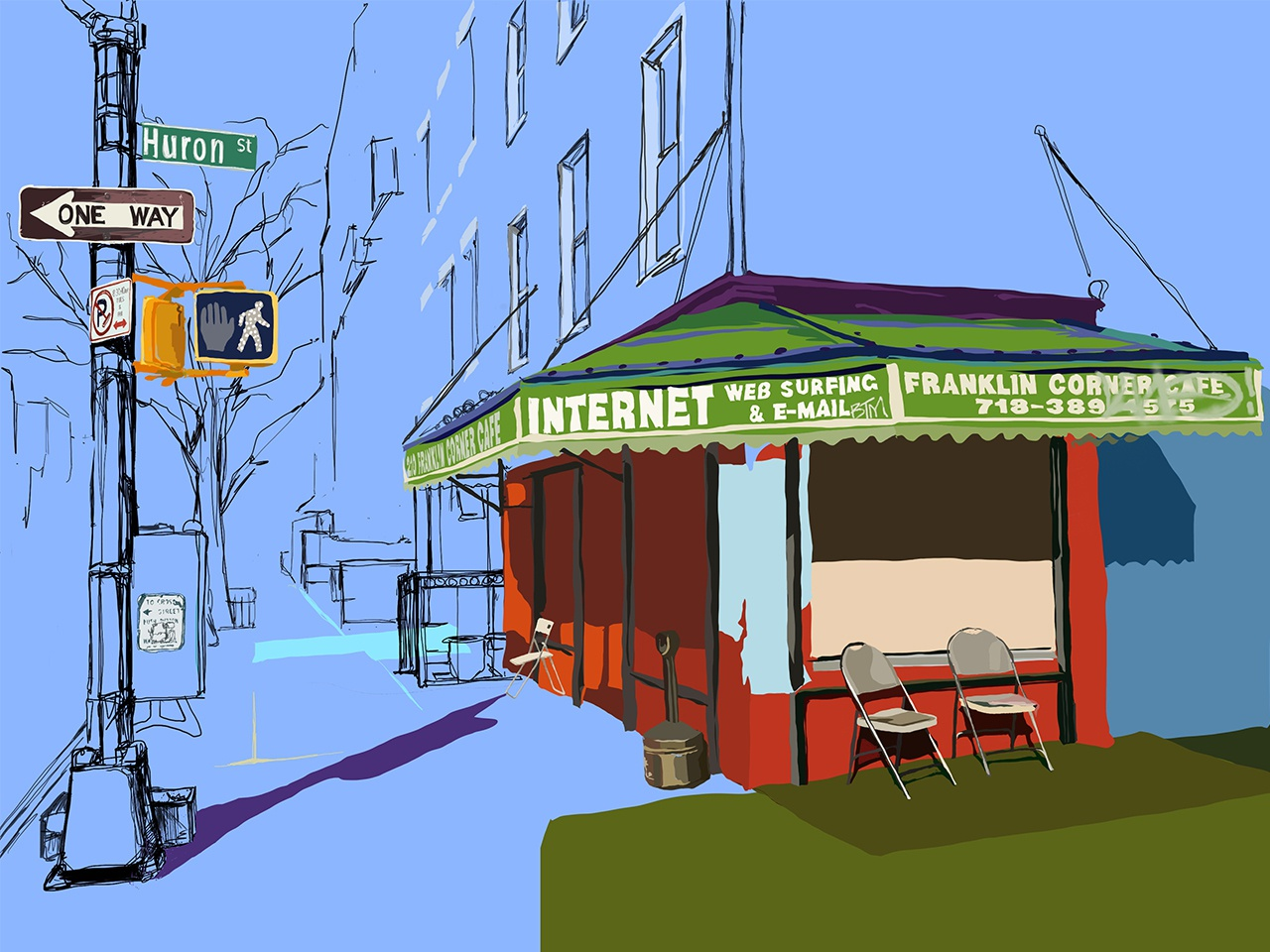 The Franklin Deli drawing design vector illustration the franklin deli greenpoint brooklyn greenpoint