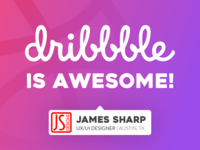 Dribbble shout-out / for being awesome!