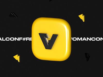 Vizart Events branding events conferences exhibition logotype animation illustration icon logo design