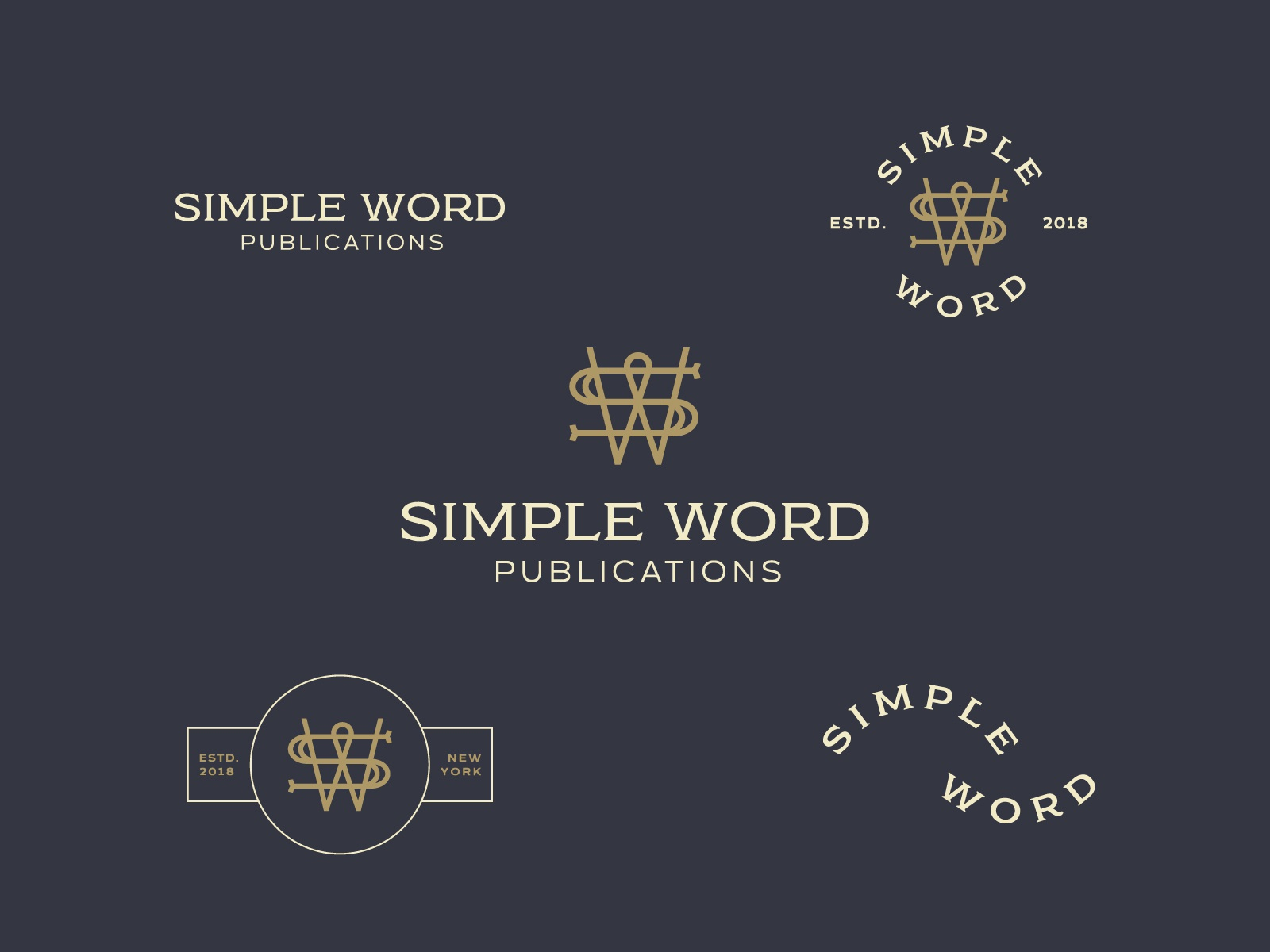 Simple Word Publications — Identity letters simple font books publishing  typography icon design branding badge logo