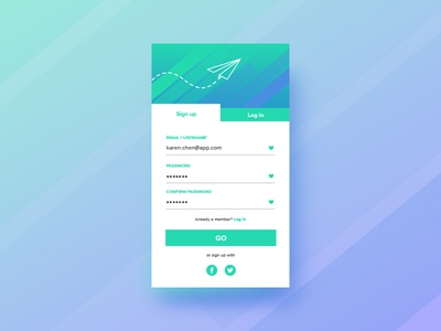 Daily UI 001 / Sign-Up app design ui daily ui 001 sign up