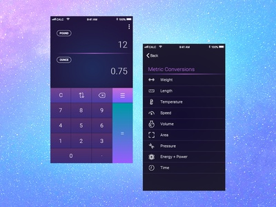 Daily UI 004 / Calculator design ui conversion calculator daily ui 004
