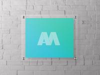 Mock up acrylic sing wall holder