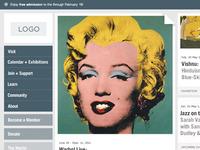 Museum Website Homepage