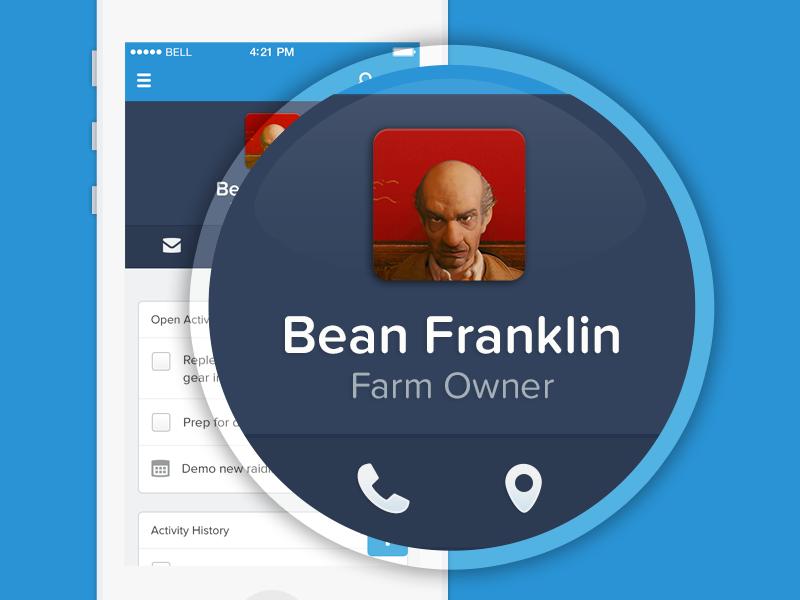 App Profile Masthead app ui phone ios navigation profile avatar icon flat simple blue navy