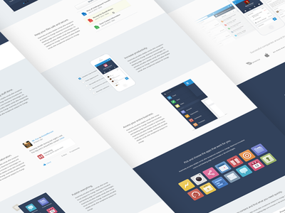 Case Study Details app ui phone ios icons flat simple clean landing page navigation salesforce