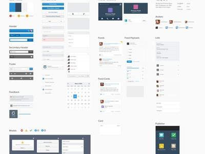 Salesforce1 UI Kit style guide ui kit components elements app mobile salesforce