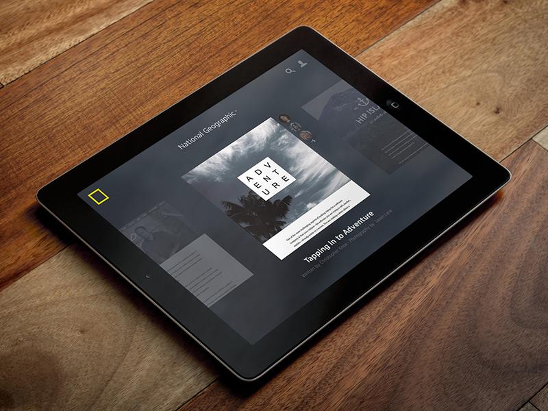 Medium iPad Concept white label national geographic story editorial concept ipad medium