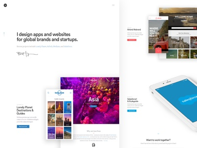 New Portfolio for 2017 homepage simple clean minimal travel photography web mobile salesforce airbnb lonely planet portfolio
