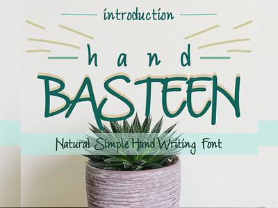 Free Font: Hand Basteen Font