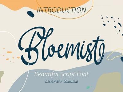 Bloemist Script Font art concepr font wedding font logo font funny font font kid beautiful script font