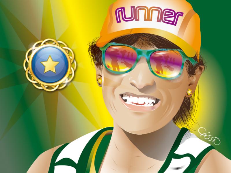 Runner color digitalart vectorart