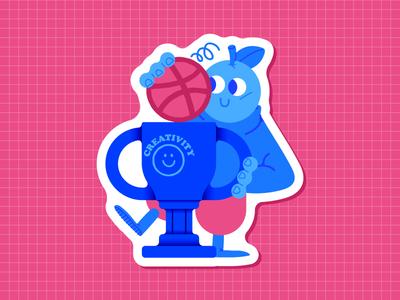 Sticker Dribbble
