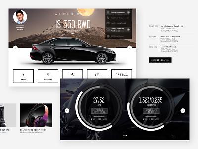 Concepts for Lexus ui web automotive dashboard