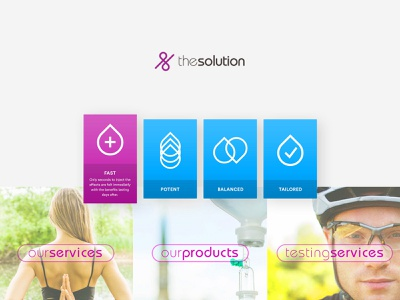The Solution Elements icon website design ui