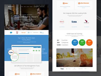 QASymphony Website saas ui design website