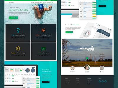 Achieve It Home Page Concept design interactive design web