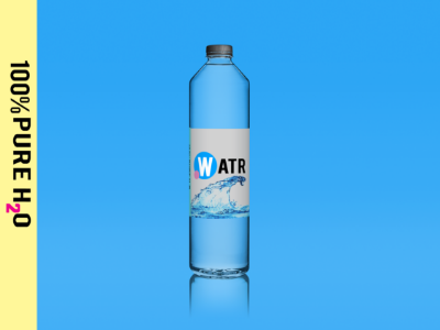 Watr - Brand Mock-up photography photoshop water design branding clean