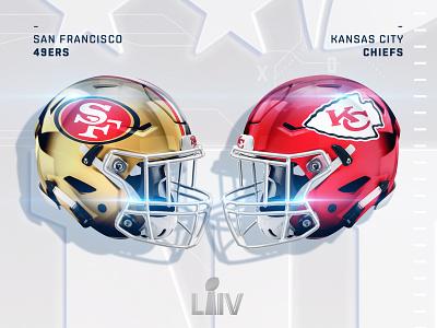 Super Bowl LIV chiefs champions texture helmet design football liv super bowl 49ers sanfrancisco kansas city