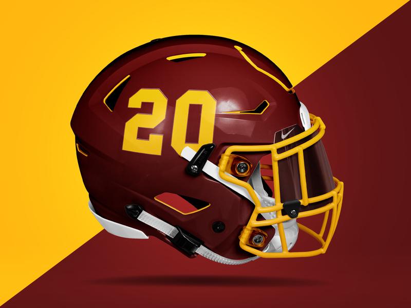 Washington Football Team nfl design mockup branding logo sports football washington