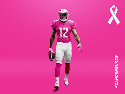 Cancer Sucks design nfl mockup concept football sports