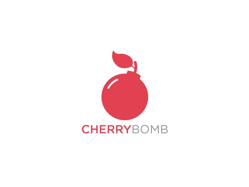 Cherry Bomb logo cherry red