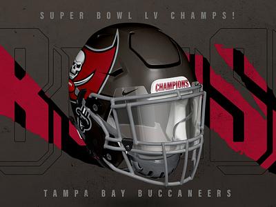 Super Bowl LV Champs! nfl mockup branding logo helmet sports design football mockup super bowl buccaneers buccaneer