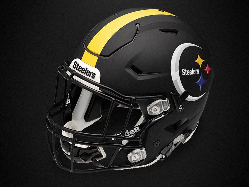 Pittsburgh Steelers Rebrand Concept Helmet by Brandon Williams ... 601323ab8