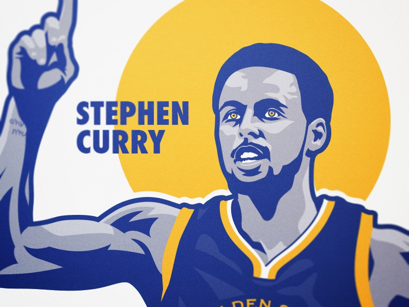 Stephen Curry Illustration stephen curry steph warriors state golden basketball
