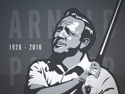 Arnold Palmer Tribute  tribute illustration sports golf arnold palmer golfer