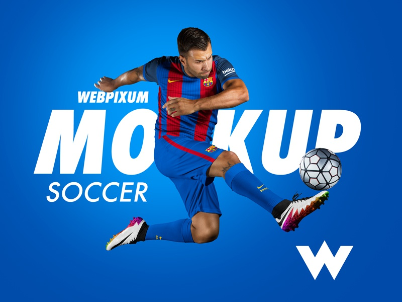 Free Soccer Mockup Psd By Brandon Williams Dribbble Dribbble