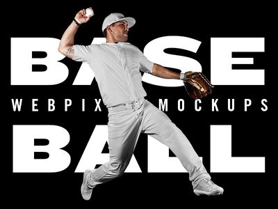 NEW Baseball Mockups freebie free psd design uniform mockup sports mlb baseball