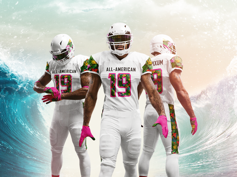 All American Uniform Recreate sports design under armour unifrom uniform design football