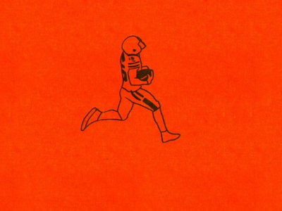 Cleveland Browns TD photoshop cleveland browns minimal loop animation loop video illustration gif flat football character animation 2d